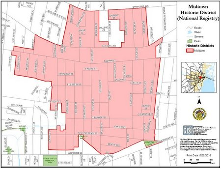 BLOG-MIDTOWN HISTORIC DISTRICT MAP 700x536
